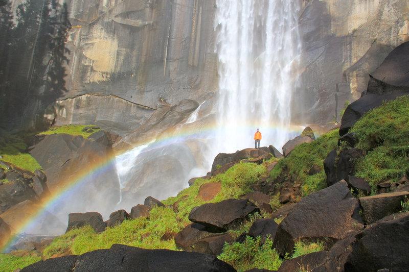 Vernal Fall mistin' the rainbow