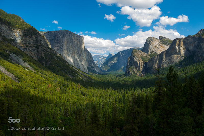 The view down the Yosemite Valley.