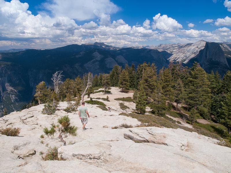 The climb down Sentinel Dome.