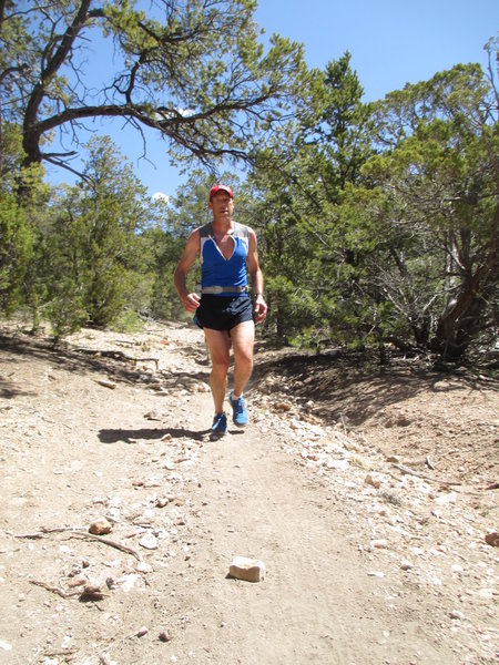 Cruising to higher ground on the Juan Trail