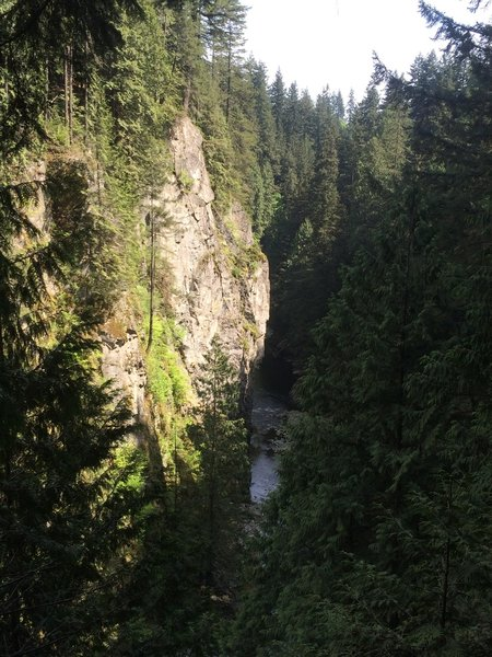 Viewpoint above the Capilano Canyon.  This is just to the North of the Capilano Suspension Bridge
