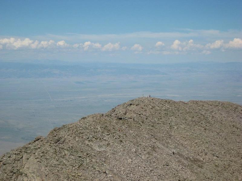 Challenger Point as seen from the summit of Kit Carson. Unfortunately, it's much farther away than it looks.