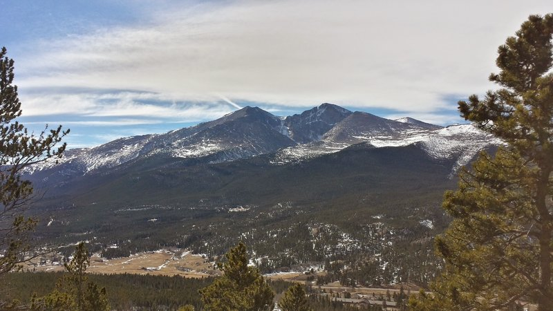 Long's Peak and Mount Meeker from Twin Sisters Trail