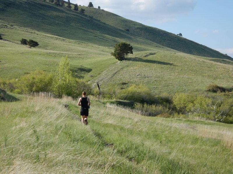 Rolling along in the Boulder foothills