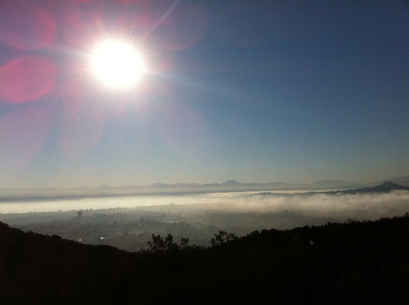 San Diego morning - get above the smog!