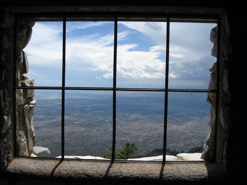 A look from inside Kiwanis Cabin