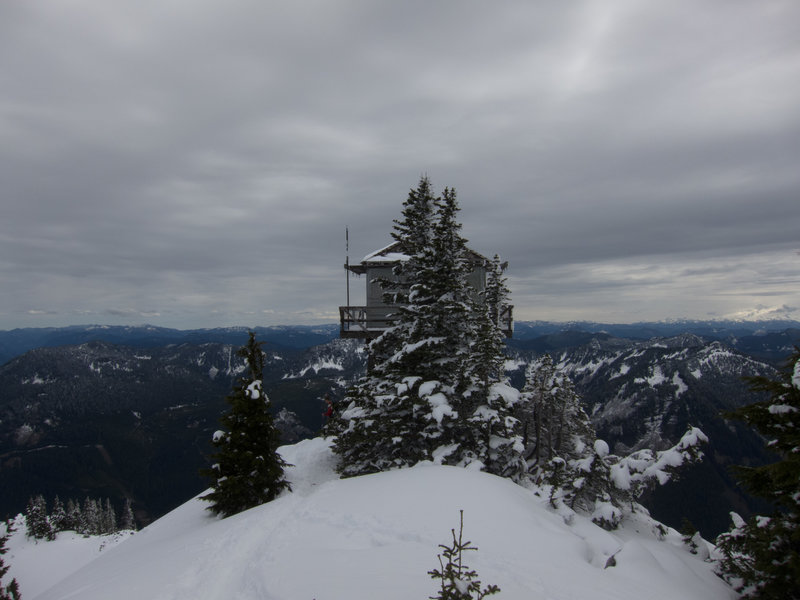 The fire lookout on top of Granite Mountain, April 2015.