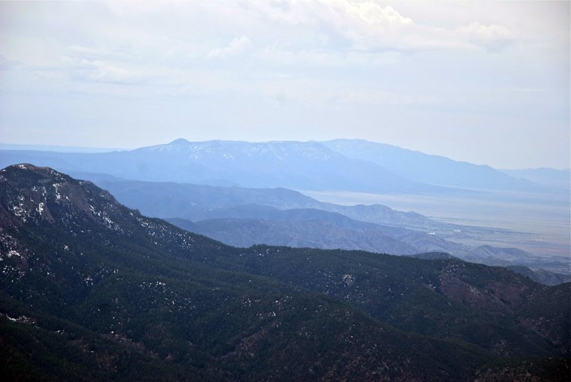 Far-off mountains as seen from the La Luz Trail
