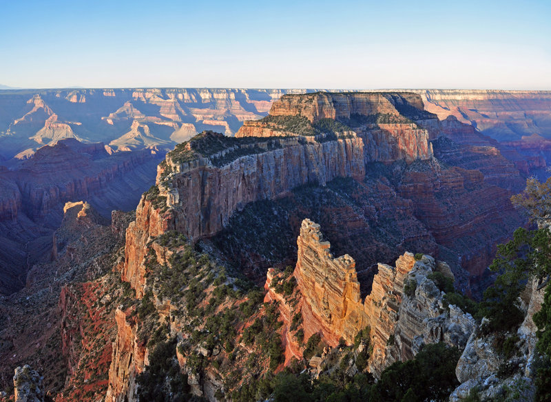 Grand Canyon National Park: North Rim - Muted sunrise from Cape Royal