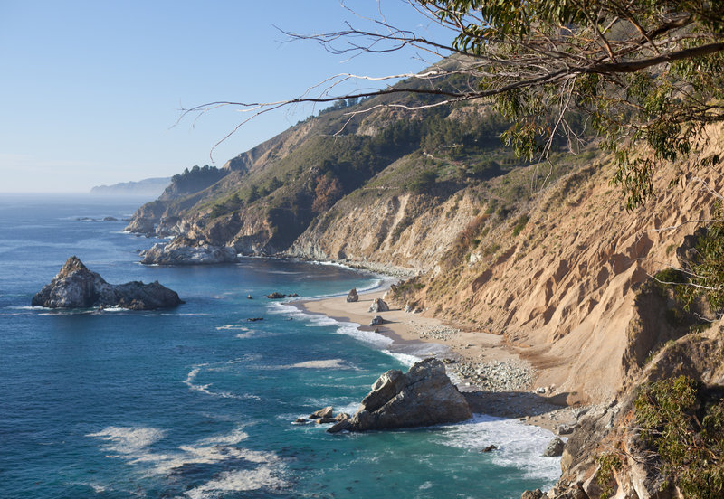 Beautiful Pacific coastline.