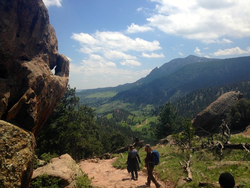 Beautiful descending views