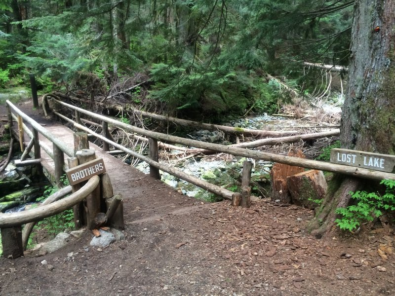 Brothers Creek Bridge at the intersection of the Fire Road and the Brothers Creek Trail