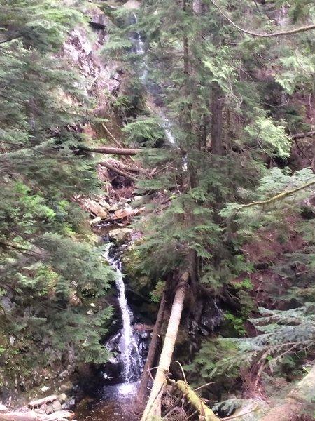 Twin waterfalls on Brothers Creek