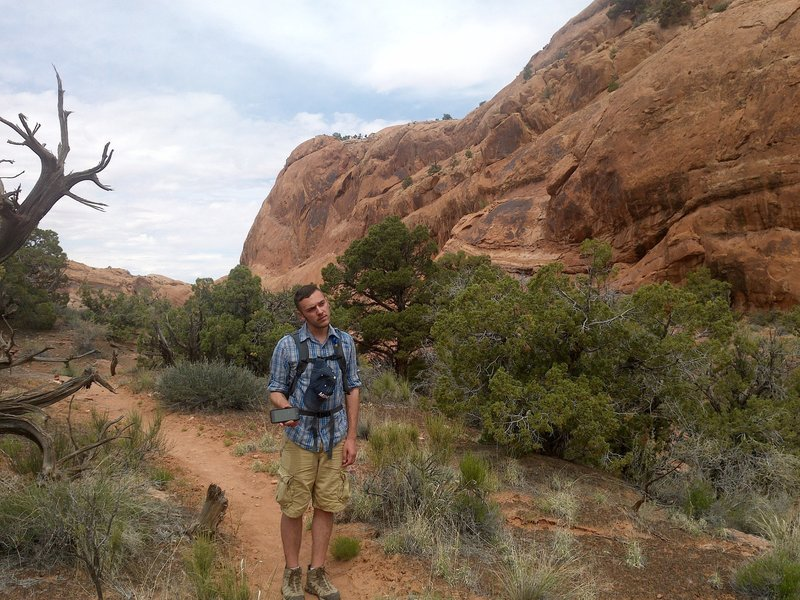 This is along the Syncline Loop Trail, a great 8.6 mile loop.