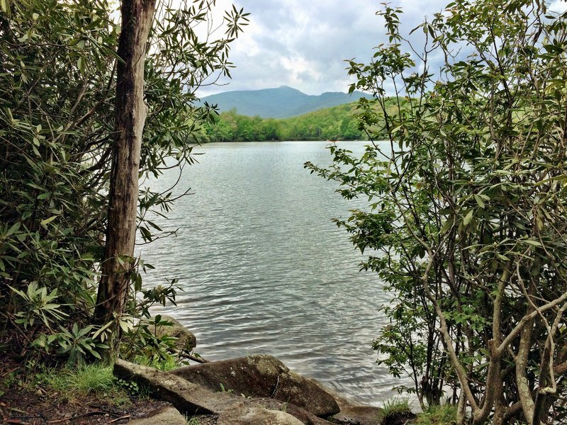 Price Lake with Grandfather Mountain in the distance.