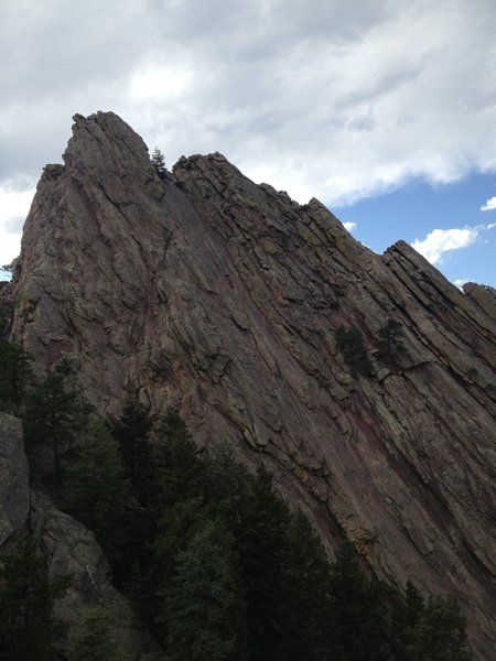 The First Flatiron as seen from the 2nd Flatiron access trail