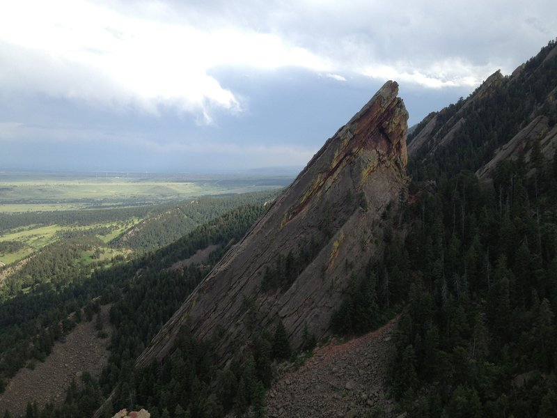 The Third Flatiron as seen from the top of the 1st/2nd Flatiron Trail