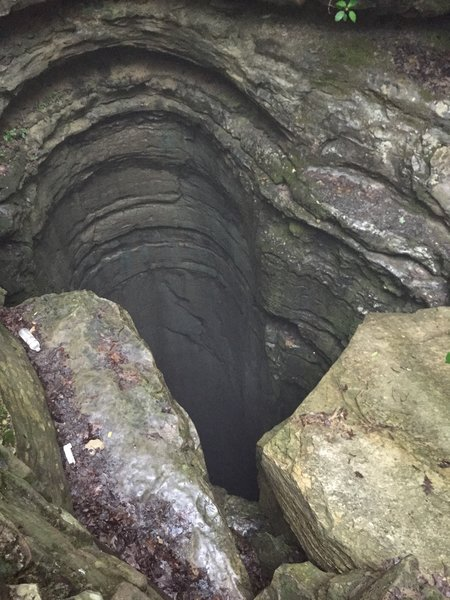 The Natural Well:  A very deep cave on Monte Sano