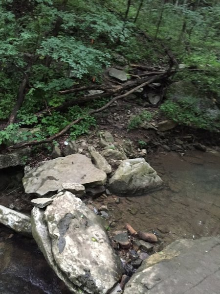 Stream crossing on Natural Well