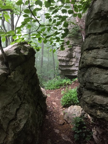 Stone cuts near the begining of Arrowhead