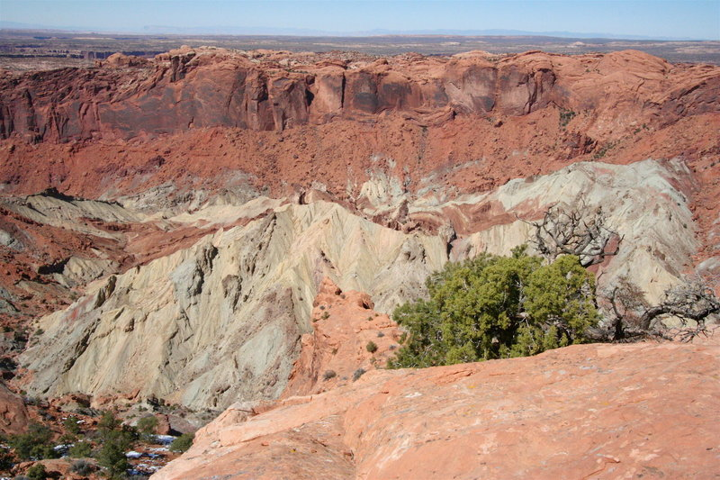 View across Upheaval Dome, Canyonlands National Park UT