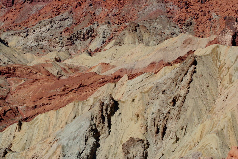 Faulted Moenkopi Formation in the highly deformed center of Upheaval Dome