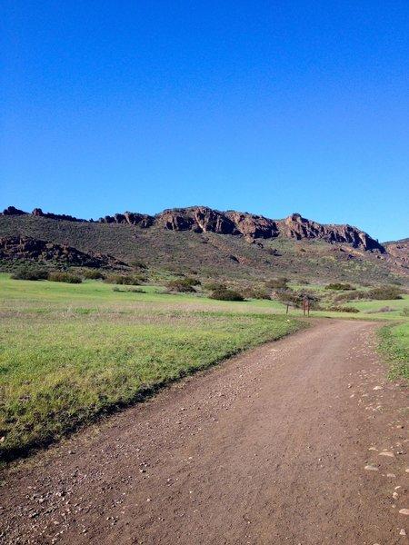The ridge that separates the park from Santa Rosa.