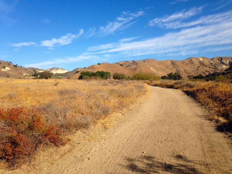 Typical view of the bottom part of the trail before you get to the trailhead.