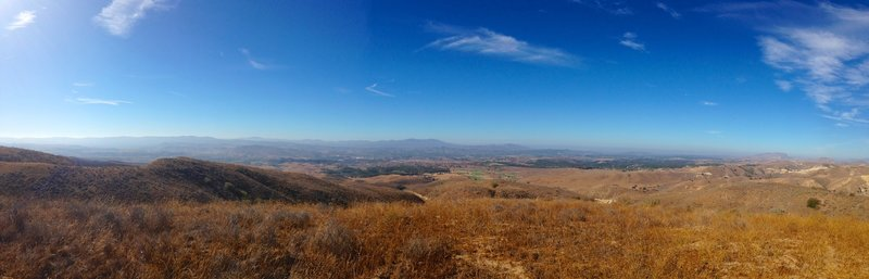 A nice panorama as you get to a higher spot.