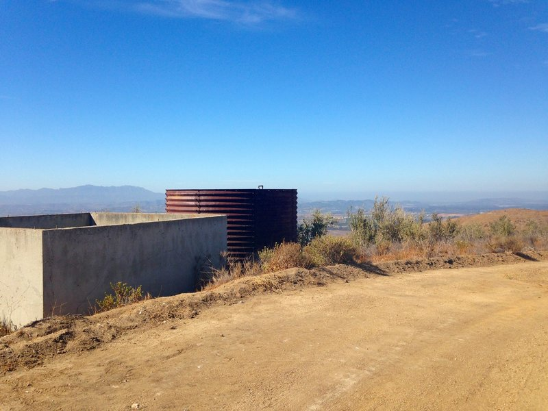 The water tank as you get closer to the turnoff.