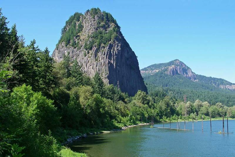 Beacon rock from the river.