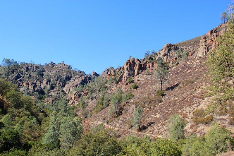 Pinnacles and Condor Gulch trailline