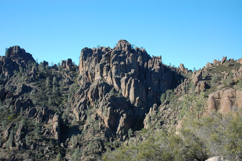 View from Old Pinnacles Trail.