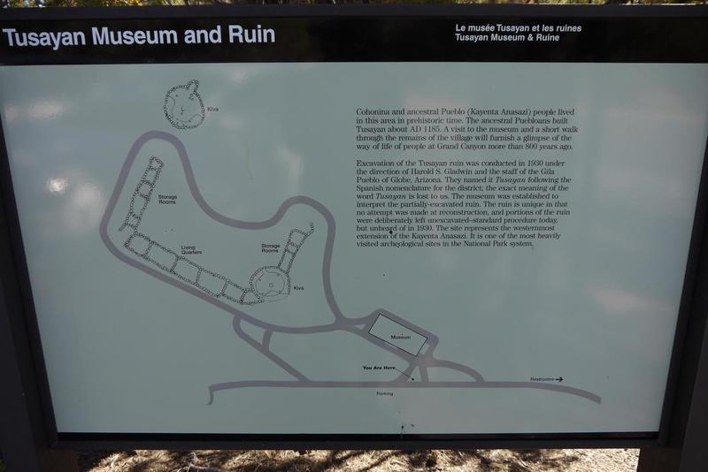 Tusayan Museum and Ruins map.
