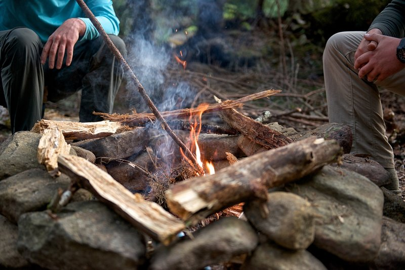 Campfire along Red Creek in the Dolly Sods Wilderness