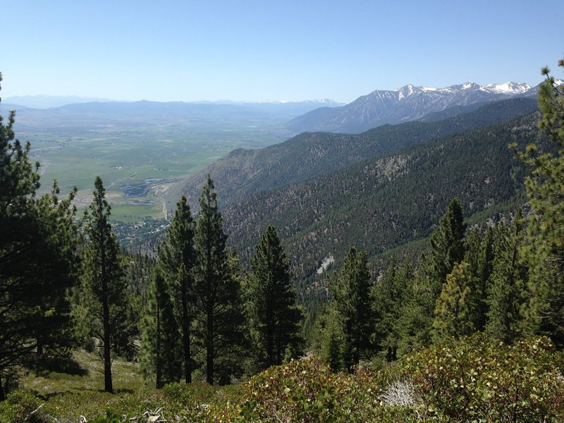 A nice viewpoint overlooking the Carson Valley.
