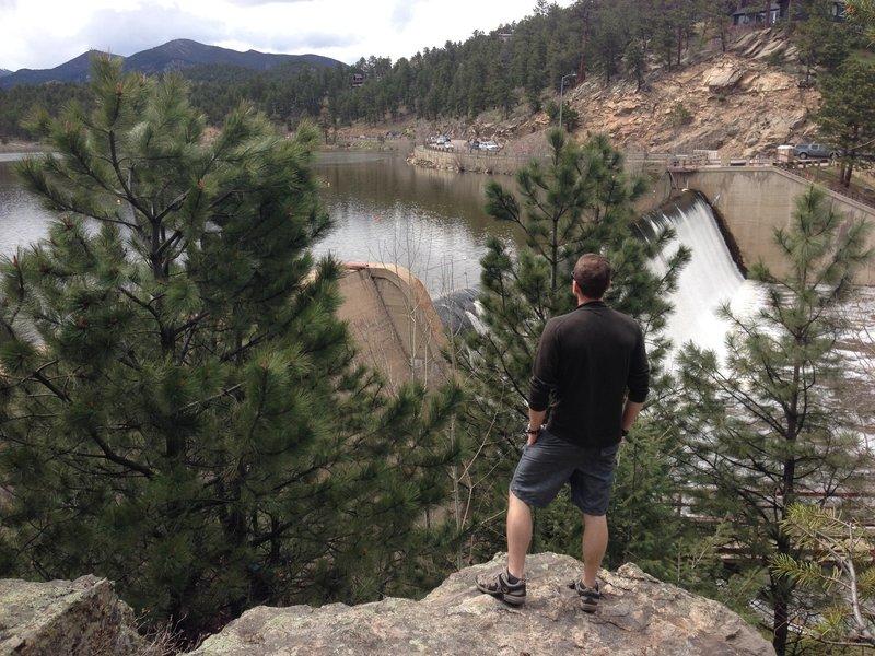 Looking West over Evergreen Lake before walking the trail loop