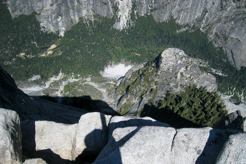 Over the edge of Half Dome