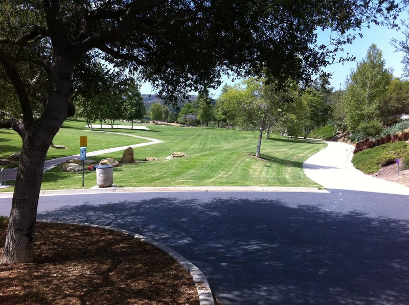 Canyon View Park.  Access Aliso Wood and Canyons Wilderness Park by taking the concrete path to the right.