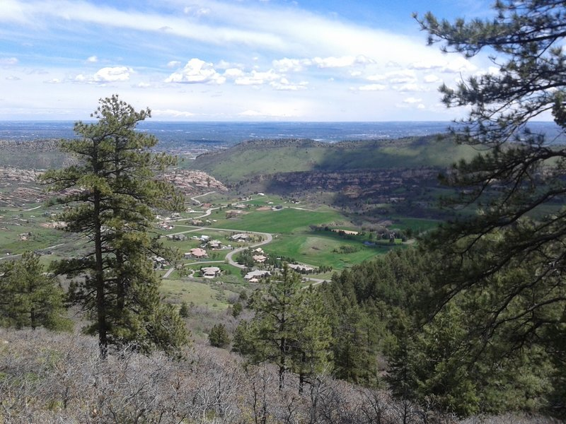 View of downtown and Deer Creek Canyon