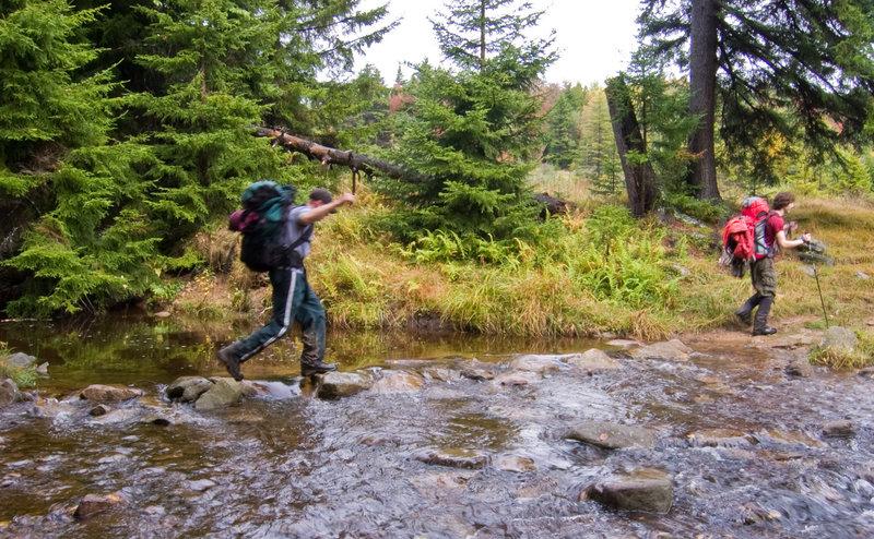 Crossing Red Creek