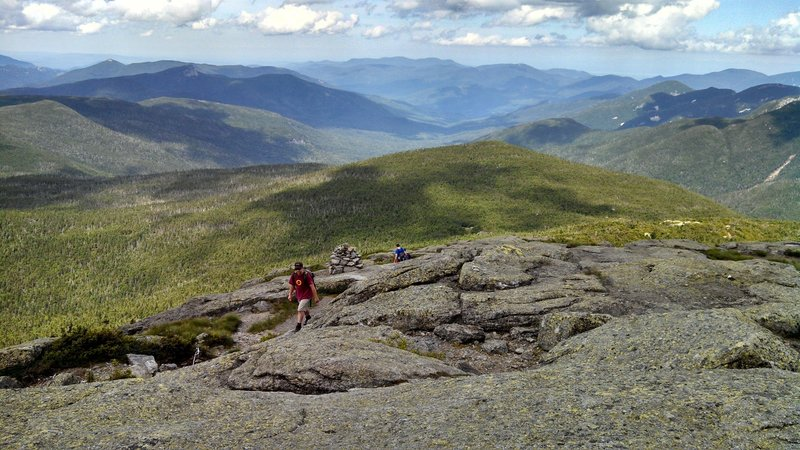 Approaching the summit of Mt. Marcy.