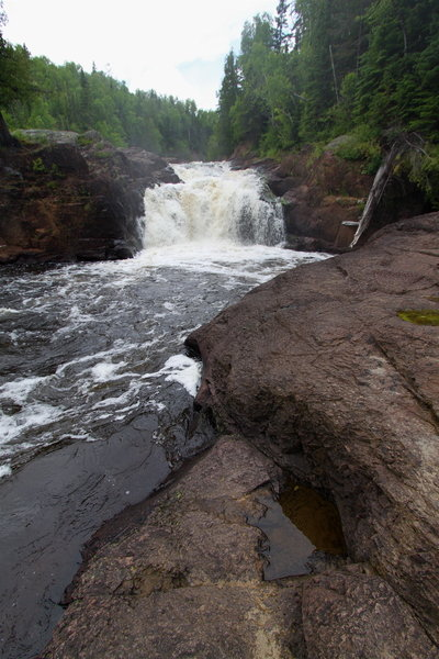 Waterfall on Brule River, Judge C. R. Magney State Park MN
