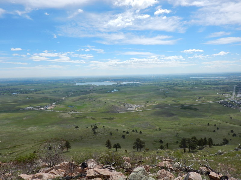 View east over the plains of Boulder County