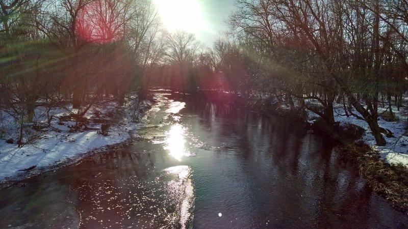 Skippack Creek in winter.