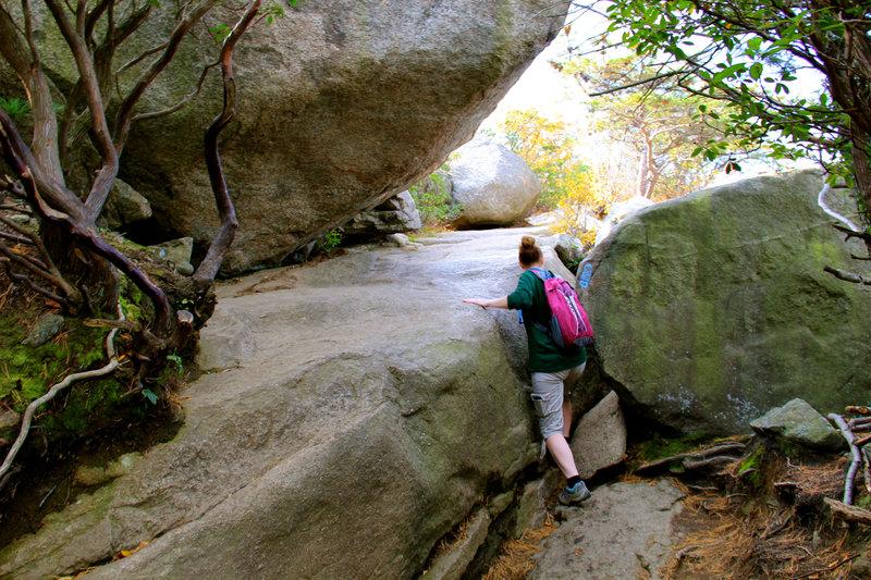 Rock boulders begins