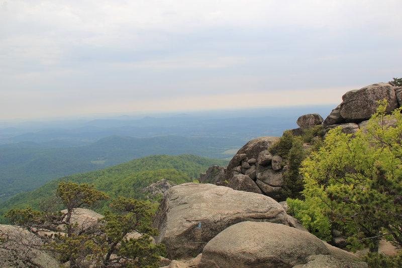 Old Rag Rocks and scenic overlook