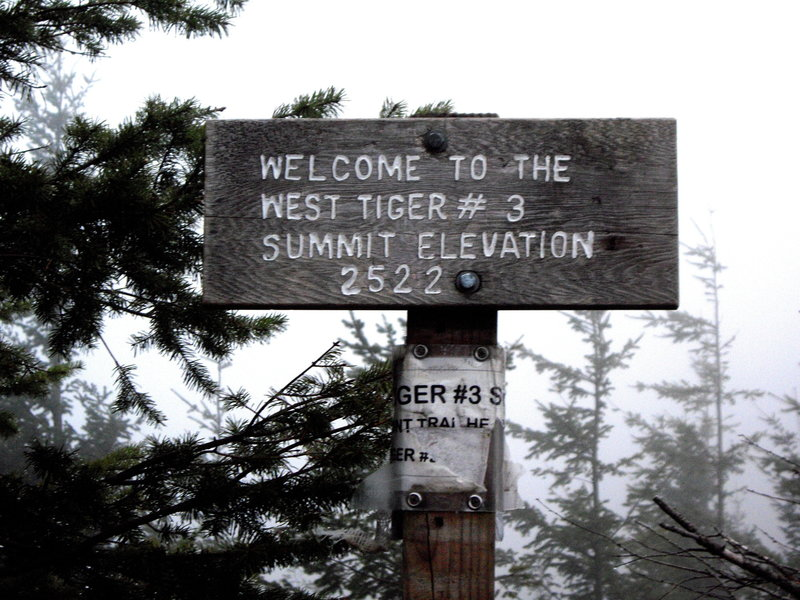 Anticlimactic on a cloudy day, but you still get the satisfaction of a sign at the top.