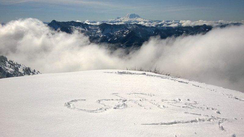 Mailbox Peak summit photo