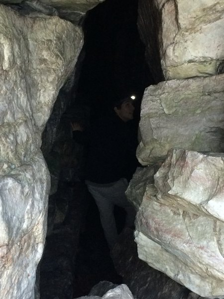 There are some really cool caves below the lookout.  Just be careful!